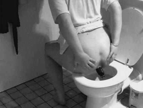 anime girl pooping on toilet